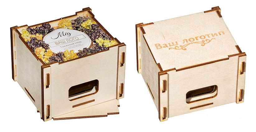 Мед, крем-мед, варенье в деревянной коробочке