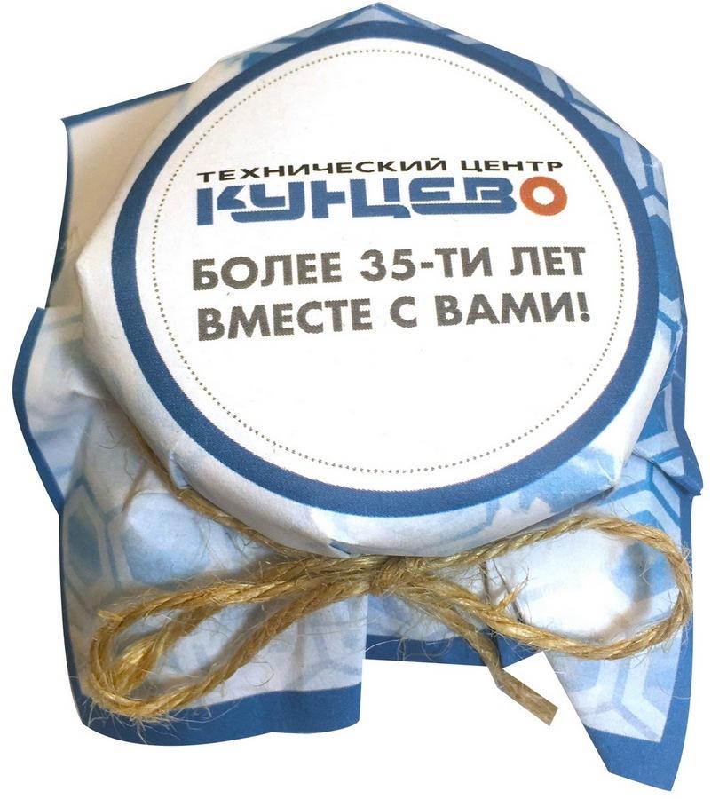 Мед в баночках с логотипом техцентра Кунцево