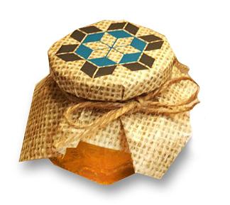 Мед в баночке с логотипом Сибантрацит Логистик