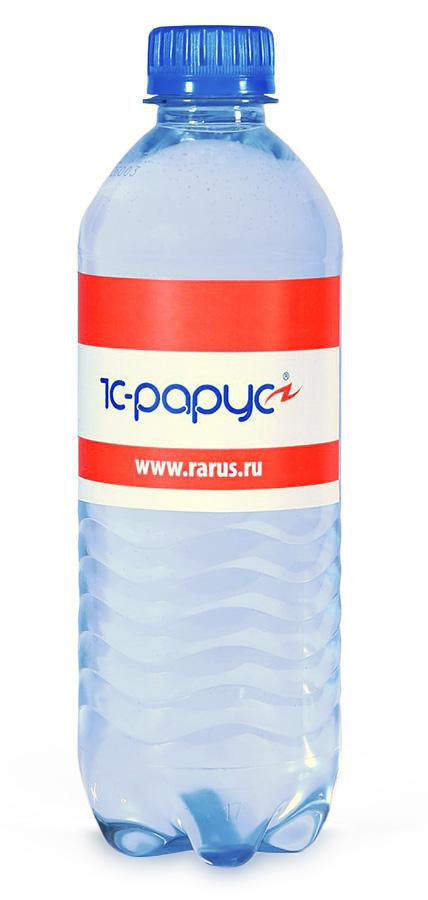 Вода Сенежская с логотипом 1C Рарус