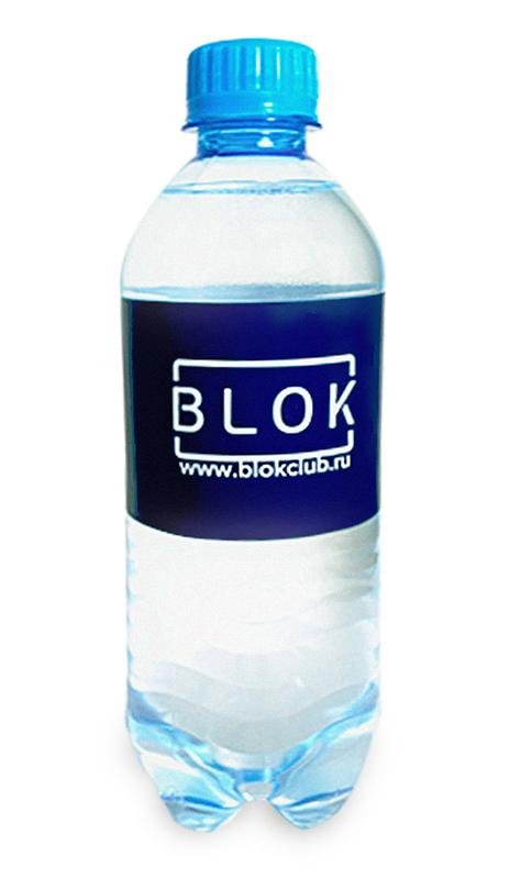 Вода Сенежская с логотипом Blok