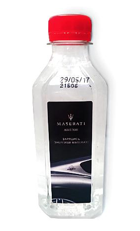 Вода О2 plus с логотипом Maserati
