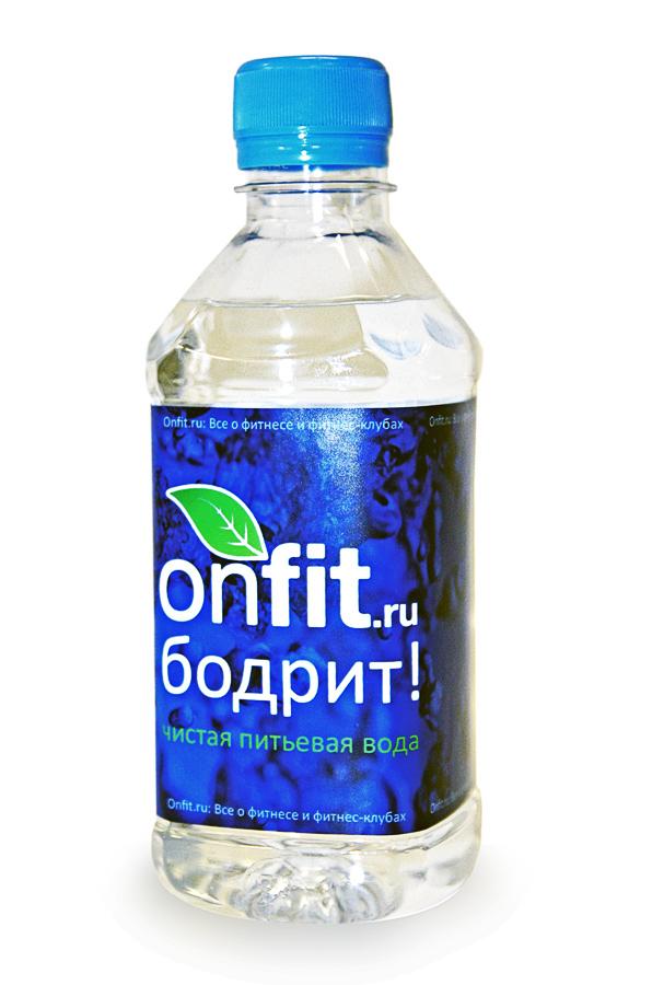 Вода О2 plus с логотипом On fit