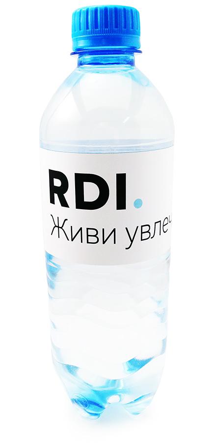 Вода Сенежская с логотипом RDI