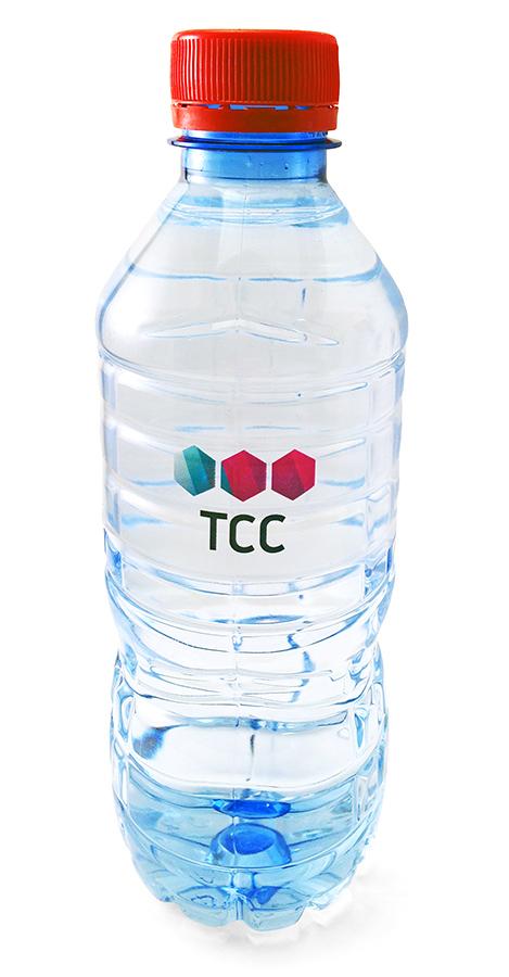 Вода Vittel с логотипом TCC