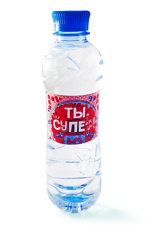 Вода Святой источник с логотипом Ты супер