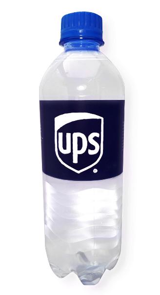 Вода Сенежская с логотипом UPS