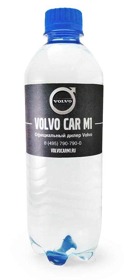 Вода Сенежская с логотипом Volvo