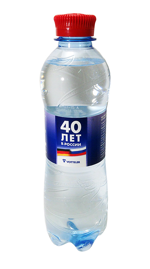 Вода Святой источник с логотипом Votteler