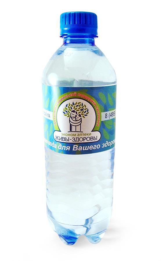 Чистая питьевая вода с логотипом