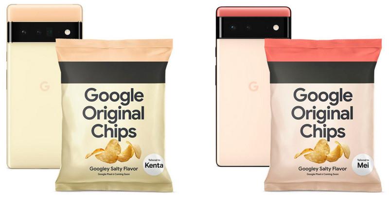 Компания Google для рекламы своего смартфона выпустила чипсы с логотипом