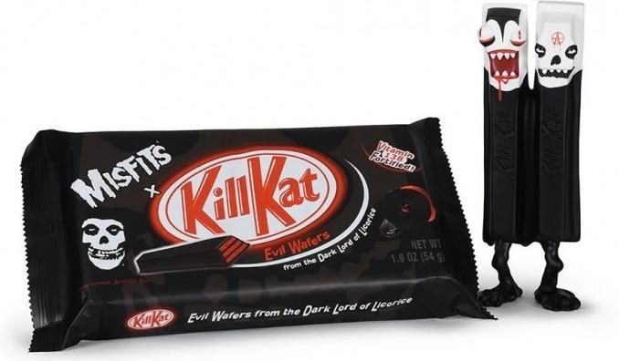 Kit Kat и панк-группа Misfits к Хэллоуну выпустили «шоколад» Кill Kat
