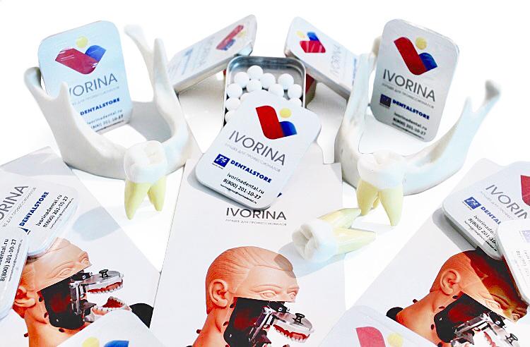 Освежающие конфеты с логотипом в металлической коробочке Клик Клак и Слайд тин