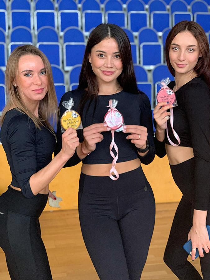 Карамельные медали для участников спортивных состязаний сотрудников мебельной компании ESTETICA