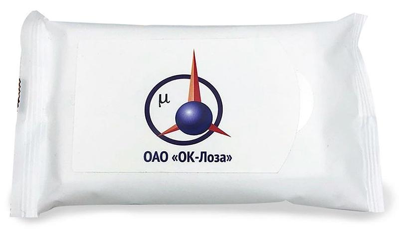 Влажные салфетки с логотипом ОК-Лоза