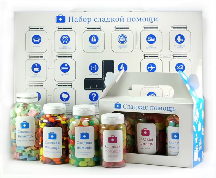 Сладкая помощь - подарки с логотипом от стресса
