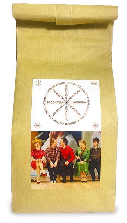 Чай в крафт-пакете с логотипом Театра наций