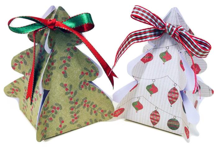 Конфеты в коробочках-ёлочках