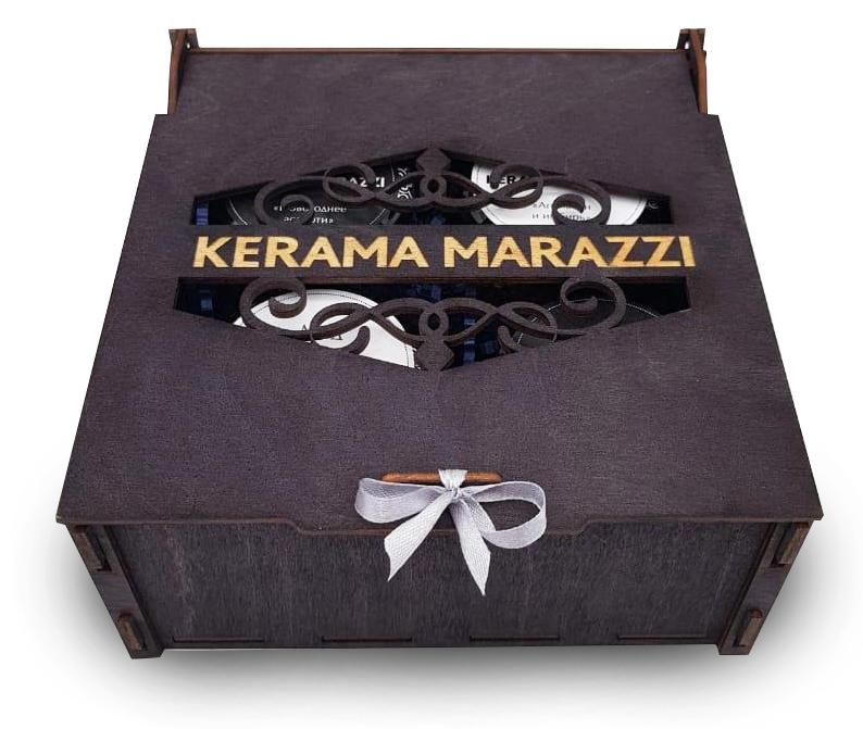 Набор вкусностей в деревянном ящике с символикой KERAMA MARAZZI