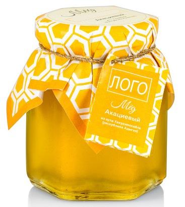 Мёд в баночке с логотипом