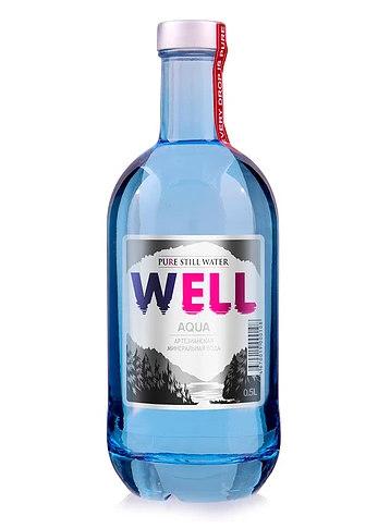 Московская левитированная вода 0,5 л в голубой стеклянной бутылочке
