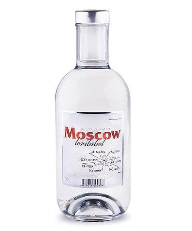 Московская левитированная вода 0,5 л в стеклянной бутылочке