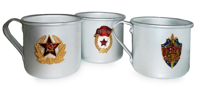 Алюминиевые кружки с советской символикой