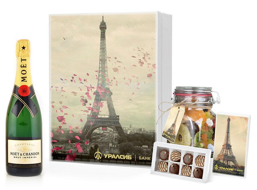 Подарочный набор из шампанского и вкусностей