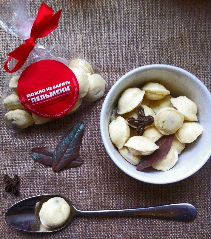 Фигурный шоколад - шоколадные пельмени