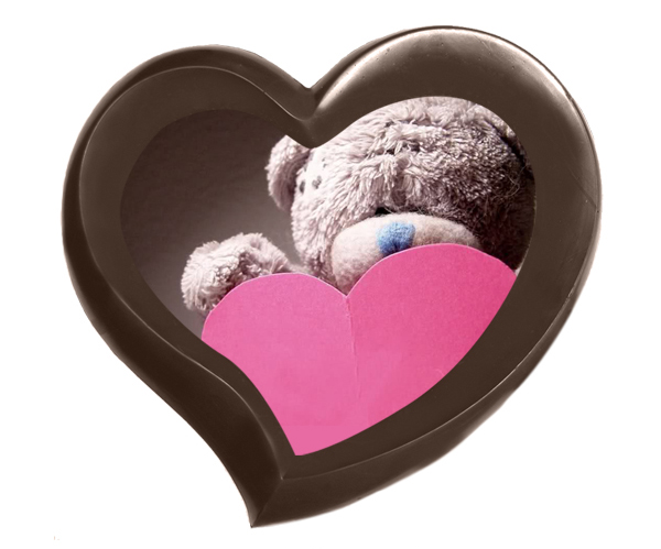 Шоколадная рамка-сердце