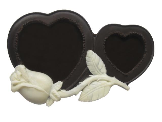Фоторамки в форме сердца из шоколада