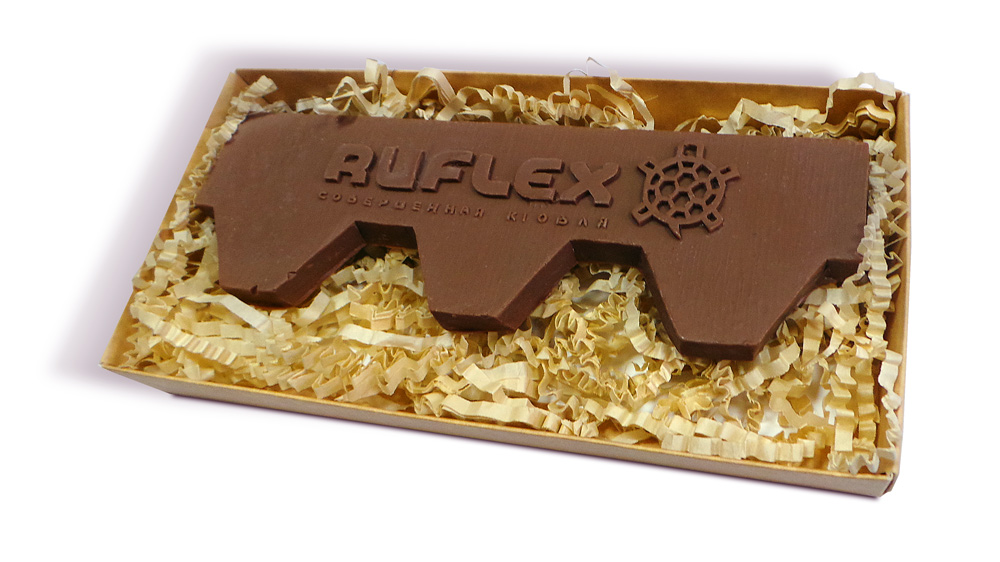 Шоколадный гонт с логотипом