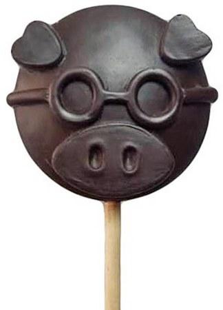 Шоколадные леденцы индивидуальной формы