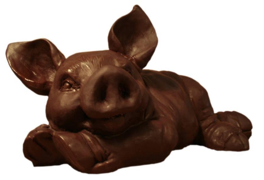 Фигура шоколадной свиньи 1800 г