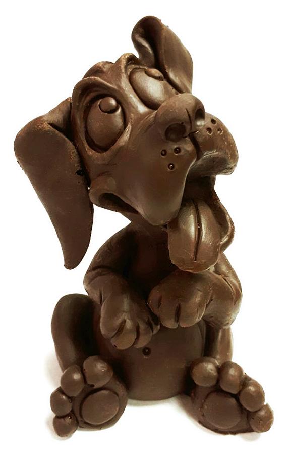 Фигурки собачек из шоколада