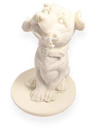 Фигурка собачки из белого шоколада