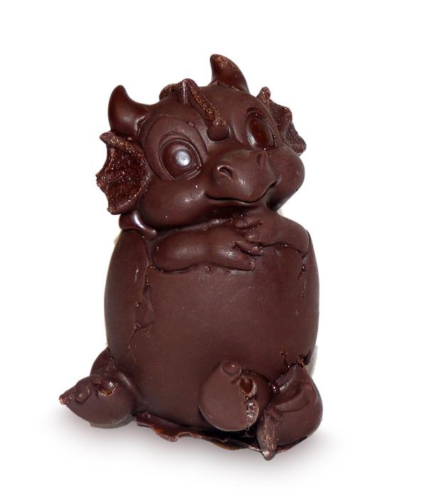 Шоколадный дракон к Новому году 2012