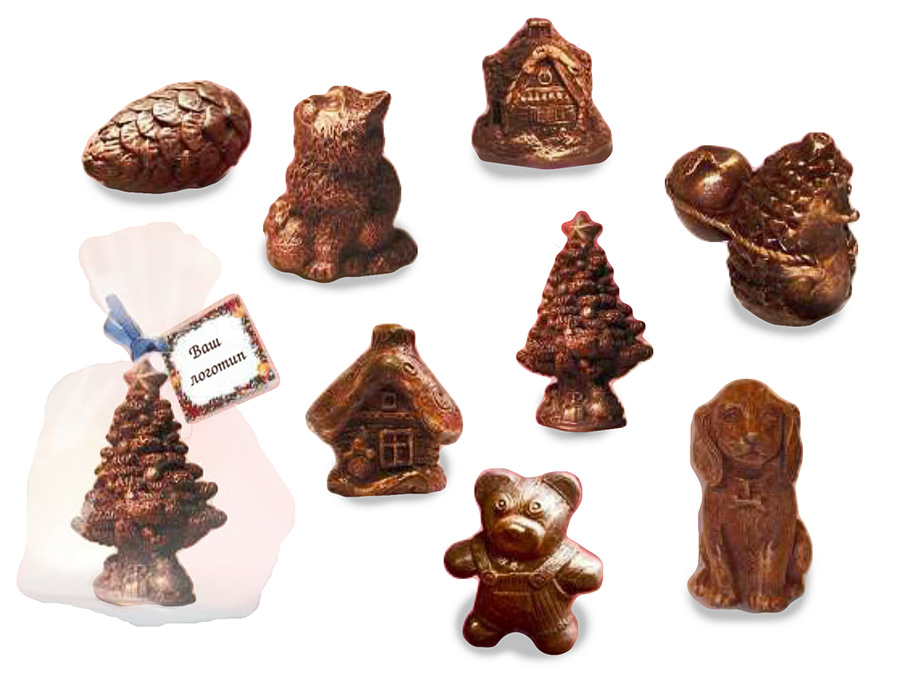 Елочные игрушки из шоколада