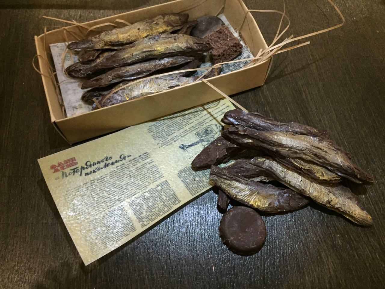 Корюшка из шоколада