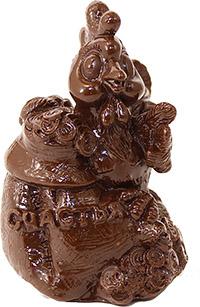 Петушки из шоколада на Новый год