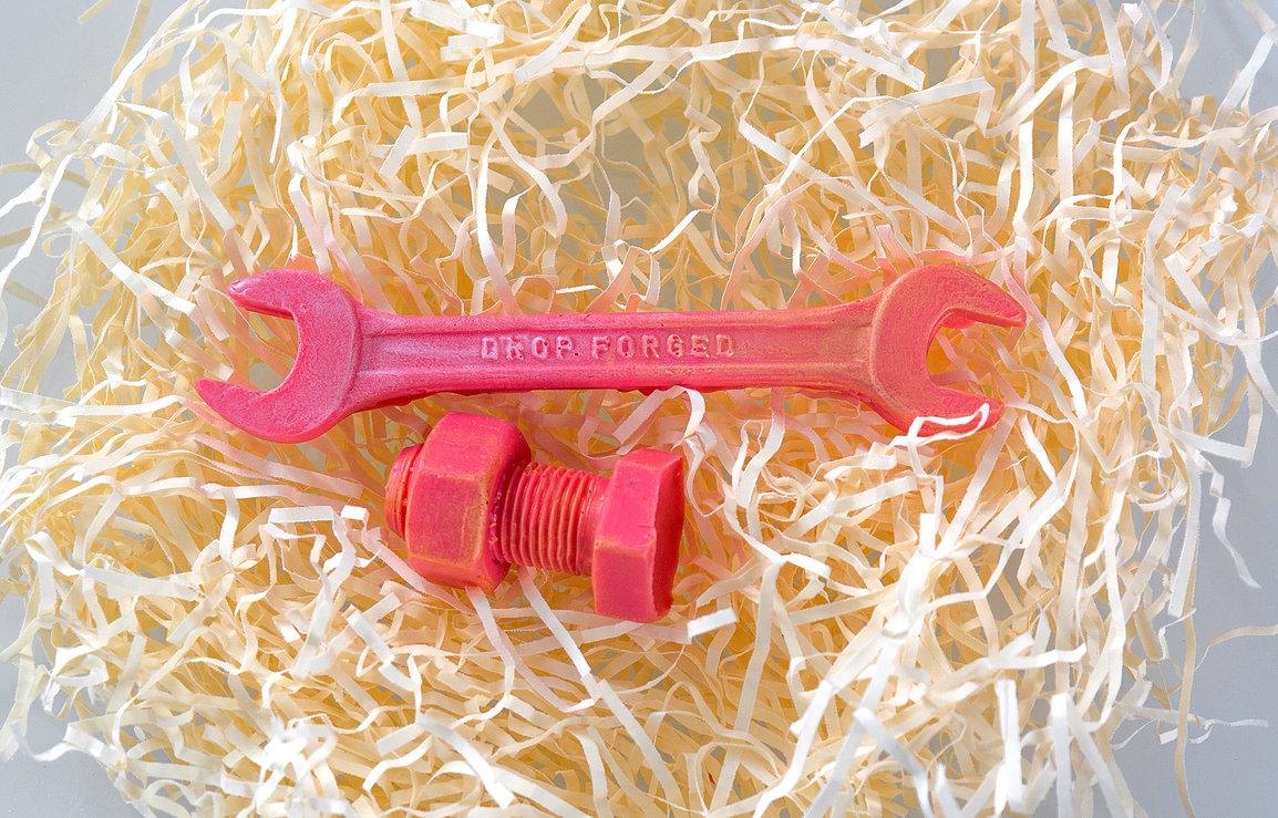 Съедобные инструменты - гаечный ключ из фруктового щербета