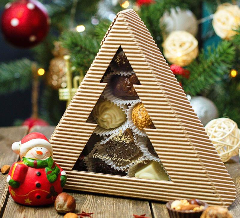 Шоколадные конфеты на Новый год