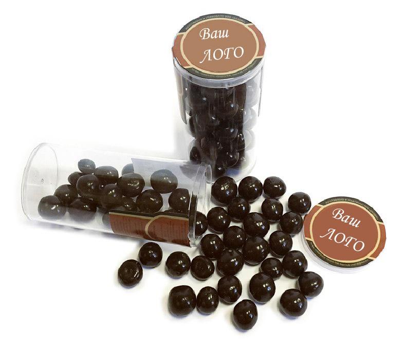Орехи, ягоды и фрукты в шоколадной и белой глазури в прозрачных баночках