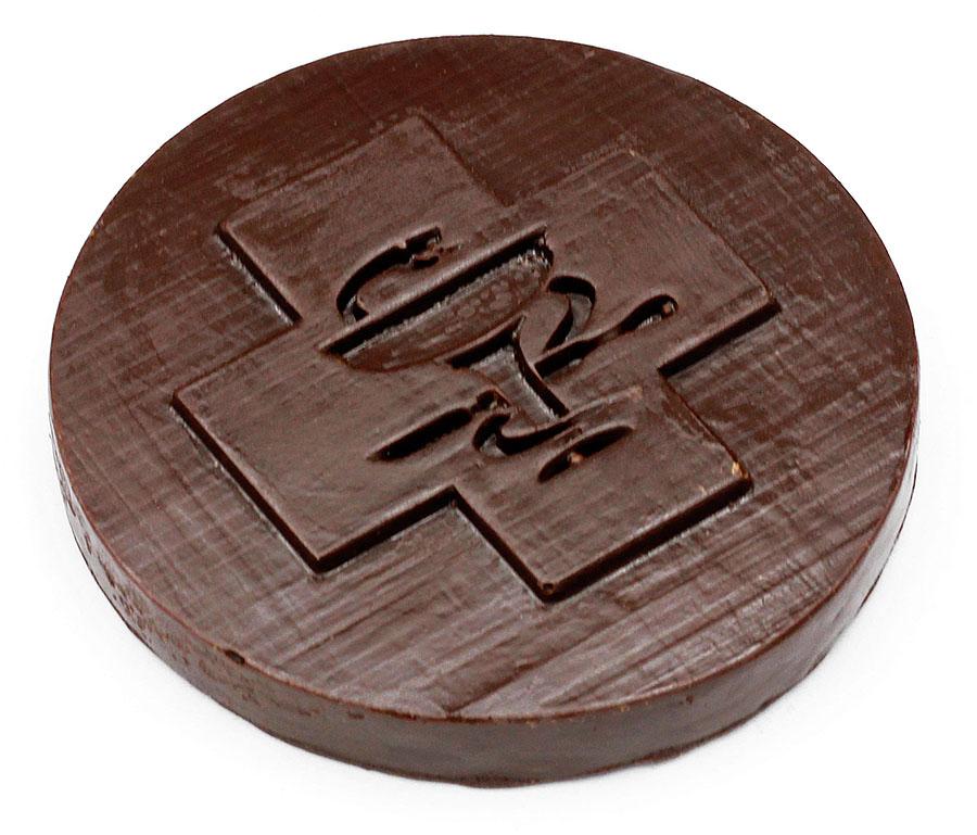 Шоколадная медаль с символикой Медицинского университета имени Пирогова