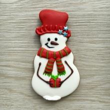 Снеговик из печенья на Новый год