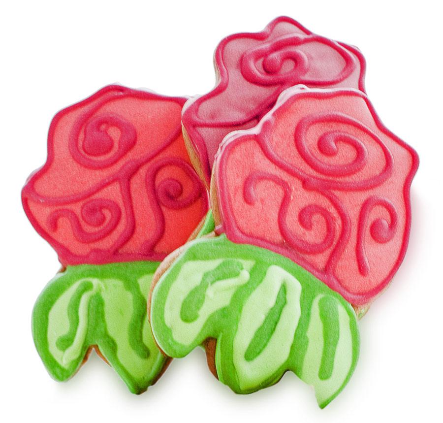 Подарочное печенье - цветы