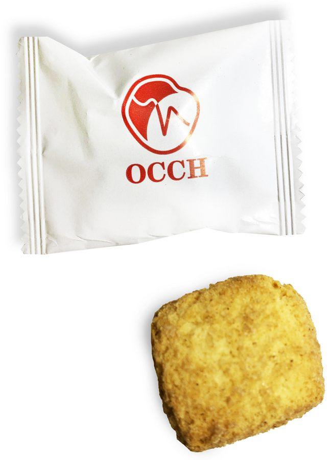Печенье с логотипом в упаковке флоу-пак