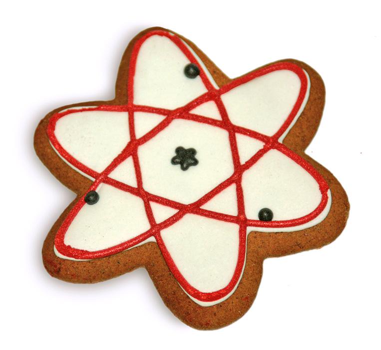 Печенье в форме атома