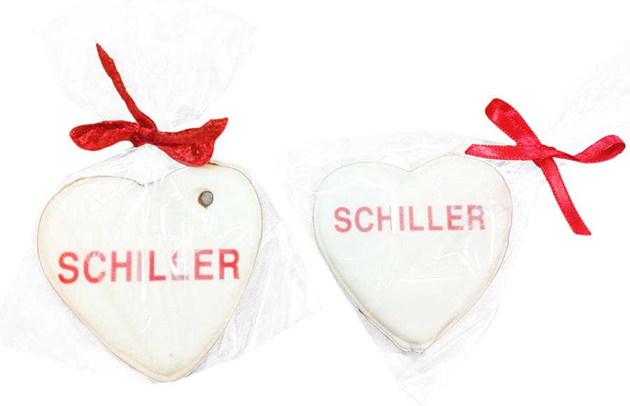 Печенье в форме сердца полноцветной печатью