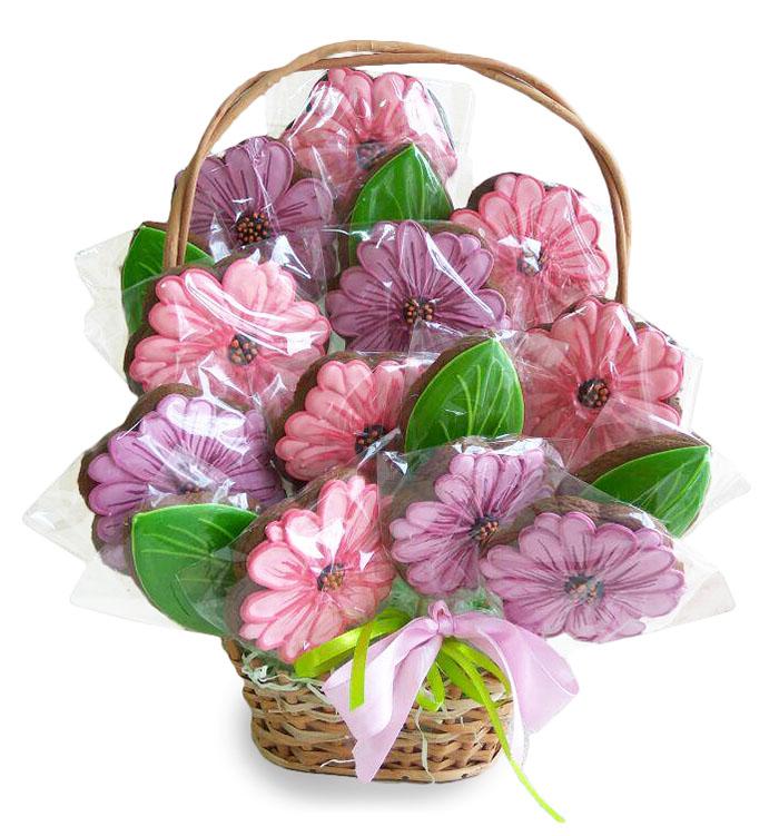 Печенье с полноцветной печатью на 14 Февраля
